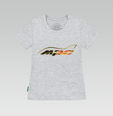 Футболка женская серый меланж - Mazda MPS Аeroplane sport color