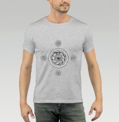 Футболка мужская серый меланж 200гр - Роза АЗОРА