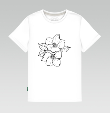 Детская футболка белая - Сакура