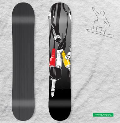 Башня - Наклейки на доски - сноуборд, скейтборд, лыжи, кайтсерфинг, вэйк, серф