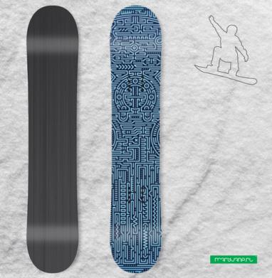 Цифроголовый - Сплошные наклейки сноуборд c черепами