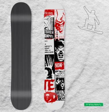 Monsters Attack ! - Наклейки на доски - сноуборд, скейтборд, лыжи, кайтсерфинг, вэйк, серф