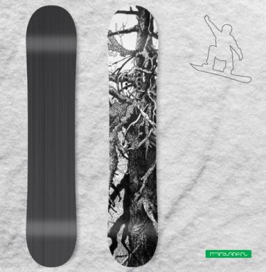 Старое древо - Виниловые наклейки на сноуборд купить с доставкой. Воронеж