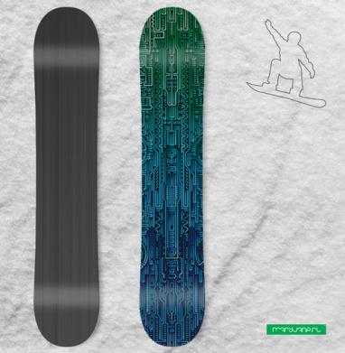 Структура ментакулус - Наклейки на доски - сноуборд, скейтборд, лыжи, кайтсерфинг, вэйк, серф