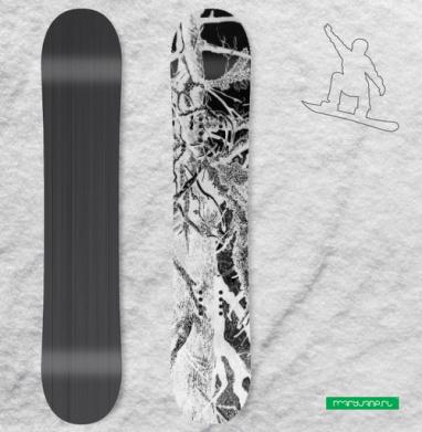 Сухое древо - Виниловые наклейки на сноуборд купить с доставкой. Воронеж