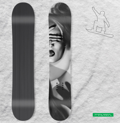 Загадка - полная запечатка - Виниловые наклейки на сноуборд купить с доставкой. Воронеж