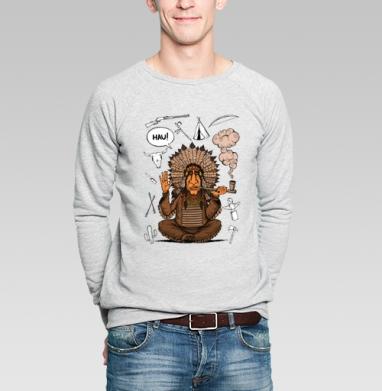 Вождь индейцев - Купить мужские свитшоты с индейцами в Москве, цена мужских  с индейцами  с прикольными принтами - магазин дизайнерской одежды MaryJane