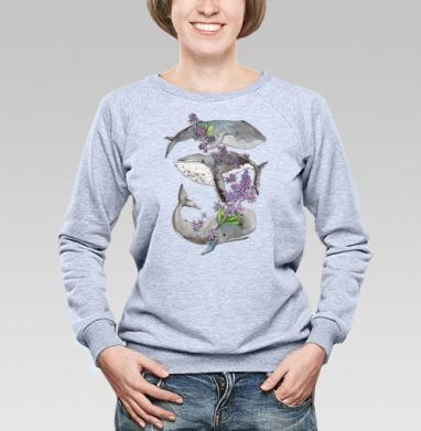 Весенние киты - Купить детские свитшоты с китами в Москве, цена детских свитшотов с китом с прикольными принтами - магазин дизайнерской одежды MaryJane