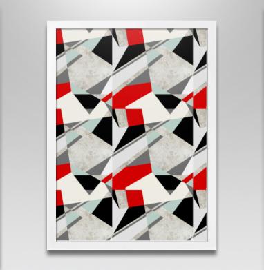 Геометрия цвета - Постер в белой раме, геометрия