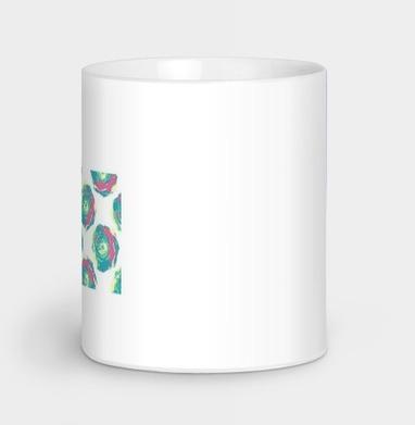 Яркий цветочный узор из роз в стиле поп-арт - иллюстация, Новинки