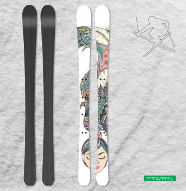 В моей голове - Наклейки на лыжи