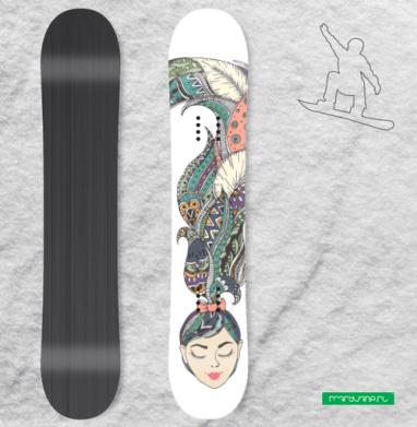 В моей голове - Наклейки на доски - сноуборд, скейтборд, лыжи, кайтсерфинг, вэйк, серф