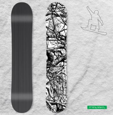 Дремучий Лес - Виниловые наклейки на сноуборд купить с доставкой. Воронеж