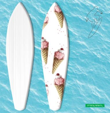 Клубничный рожок - Наклейки на серф