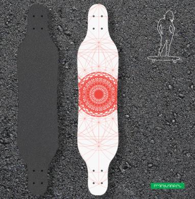 Геометрическое-сакральное - Наклейки на лонгборд