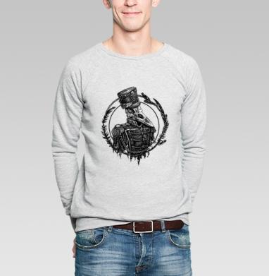Ворон гусар - Купить мужские свитшоты с птицами в Москве, цена мужских свитшотов с птицами  с прикольными принтами - магазин дизайнерской одежды MaryJane