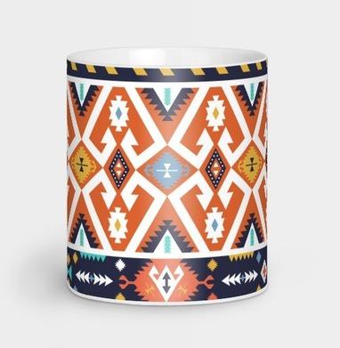 Этнический красочный декоративный паттерн - винтаж, Новинки