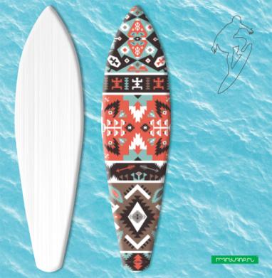 Декоративный этнический мексиканский узор - Наклейки на серф