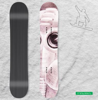 Биомех - Сплошные наклейки сноуборд c черепами