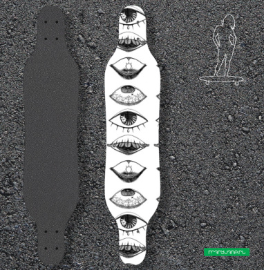 Четыре Глаза - Наклейки на лонгборд