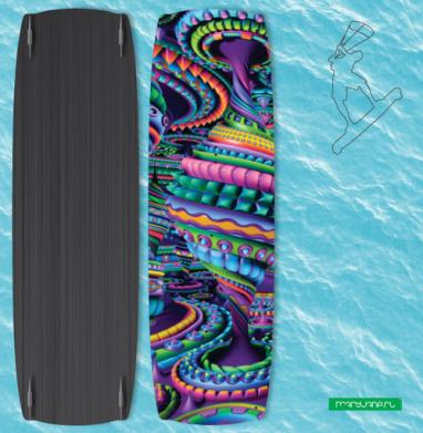 Цветовая карусель - Наклейки на кайтсерфинг/вэйк