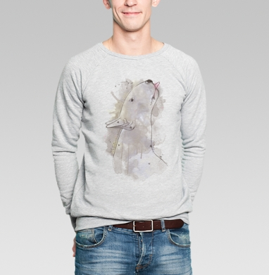 Бультерьер желает целоваться. - Купить мужские свитшоты с акварелью в Москве, цена мужских свитшотов с акварелью  с прикольными принтами - магазин дизайнерской одежды MaryJane