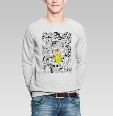 Паттерн из монстриков - Купить мужские свитшоты нежность в Москве, цена мужских свитшотов нежность  с прикольными принтами - магазин дизайнерской одежды MaryJane