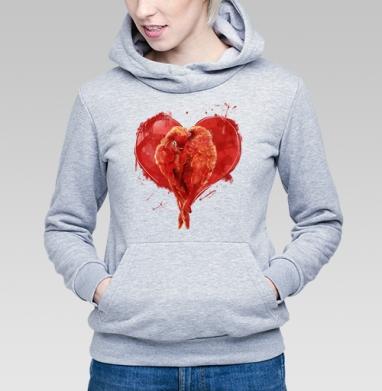 Сердце. - Купить детские толстовки с птицами в Москве, цена детских толстовок с птицами  с прикольными принтами - магазин дизайнерской одежды MaryJane