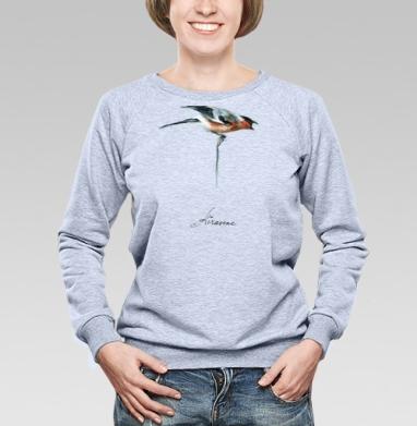 Снигирь на ветке - Купить детские свитшоты с акварелью в Москве, цена детских свитшотов с акварелью  с прикольными принтами - магазин дизайнерской одежды MaryJane