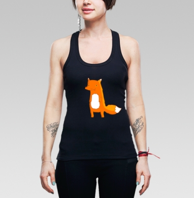 Fox - Купить мужские Майки-борцовки с лисой в Москве, цена мужских маек борцовок с лисой  с прикольными принтами - магазин дизайнерской одежды MaryJane