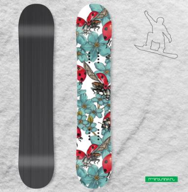 Божьи коровки - Наклейки на доски - сноуборд, скейтборд, лыжи, кайтсерфинг, вэйк, серф