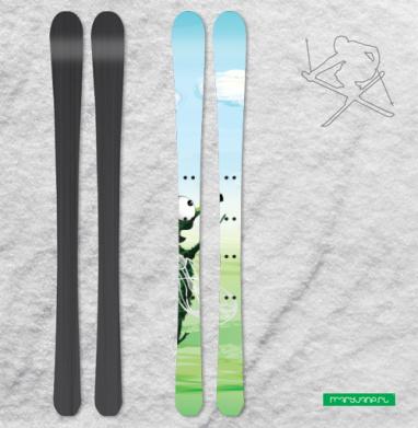 Повелитель дождя - Наклейки на лыжи