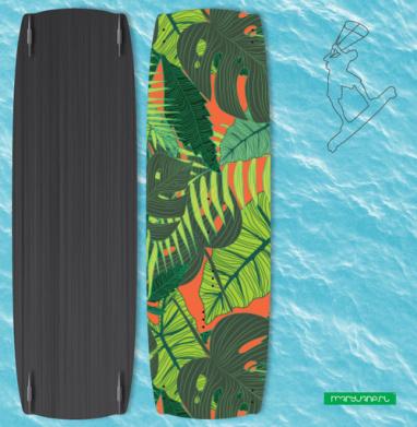 Тропический принт - Наклейки на кайтсерфинг/вэйк