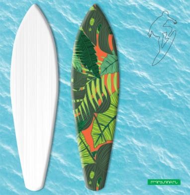 Тропический принт - Наклейки на серф