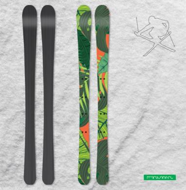 Тропический принт - Наклейки на лыжи