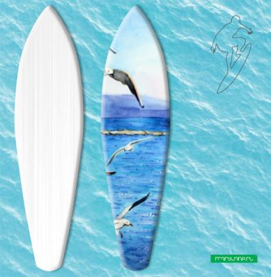 Морские чайки - Наклейки на серф