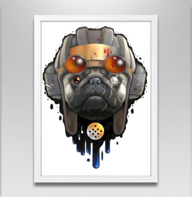 Пёс войны - Постер в белой раме, собаки