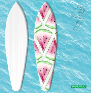 Сочный арбуз - Наклейки на серф
