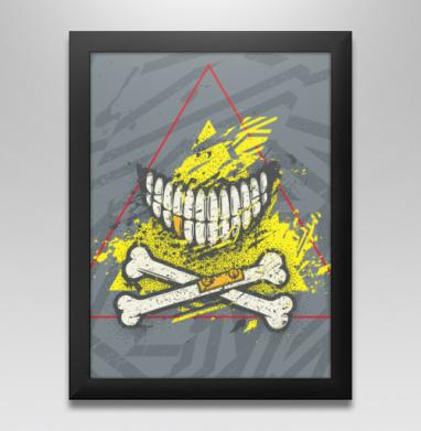 Костяная улыбка (гранж версия), Постер в чёрной раме