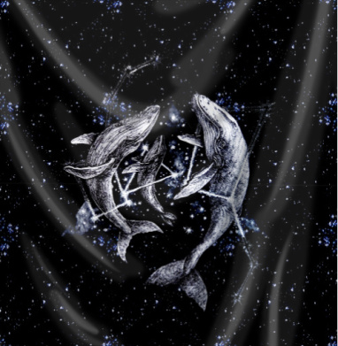 Межгалактические киты - Печать на ткани