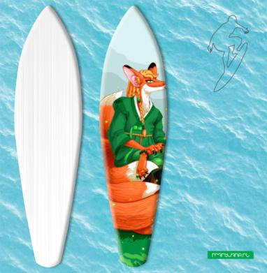 Девятихвостая лиса кумихо - Наклейки на серф