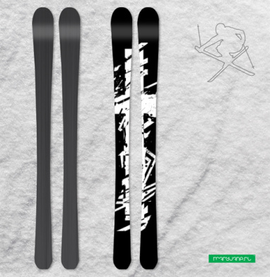 Крест во всю грудь - Наклейки на лыжи