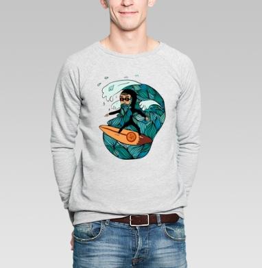 Сёрфер  - Купить мужские свитшоты с мороженным в Москве, цена мужских  с мороженным  с прикольными принтами - магазин дизайнерской одежды MaryJane