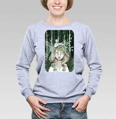 Зеленая лесная нимфа - Купить детские свитшоты с любовью в Москве, цена детских свитшотов с любовью  с прикольными принтами - магазин дизайнерской одежды MaryJane