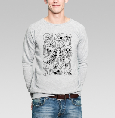 Суповой Набор - Черепа да Кости - Купить мужские свитшоты с людьми в Москве, цена мужских свитшотов с людьми  с прикольными принтами - магазин дизайнерской одежды MaryJane