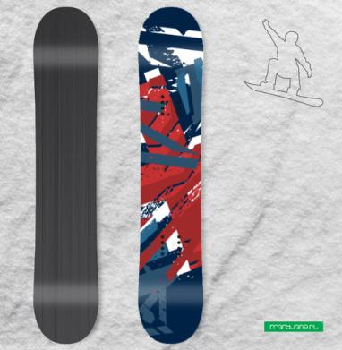 Британский флаг, таки порвал - Наклейки на доски - сноуборд, скейтборд, лыжи, кайтсерфинг, вэйк, серф