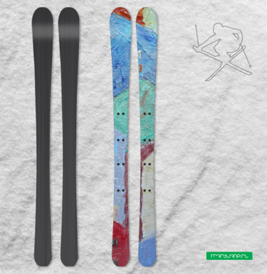 Мегаполис домики - Наклейки на лыжи