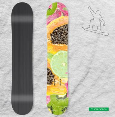 Экзотический паттерн - Наклейки на доски - сноуборд, скейтборд, лыжи, кайтсерфинг, вэйк, серф