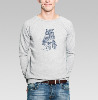 Сентябрьская сова - Купить мужские свитшоты с птицами в Москве, цена мужских свитшотов с птицами  с прикольными принтами - магазин дизайнерской одежды MaryJane