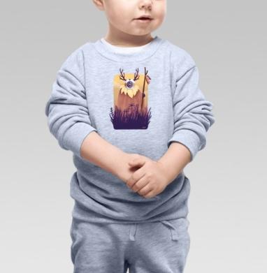 Cвитшот Детский серый меланж - Дух рассвета